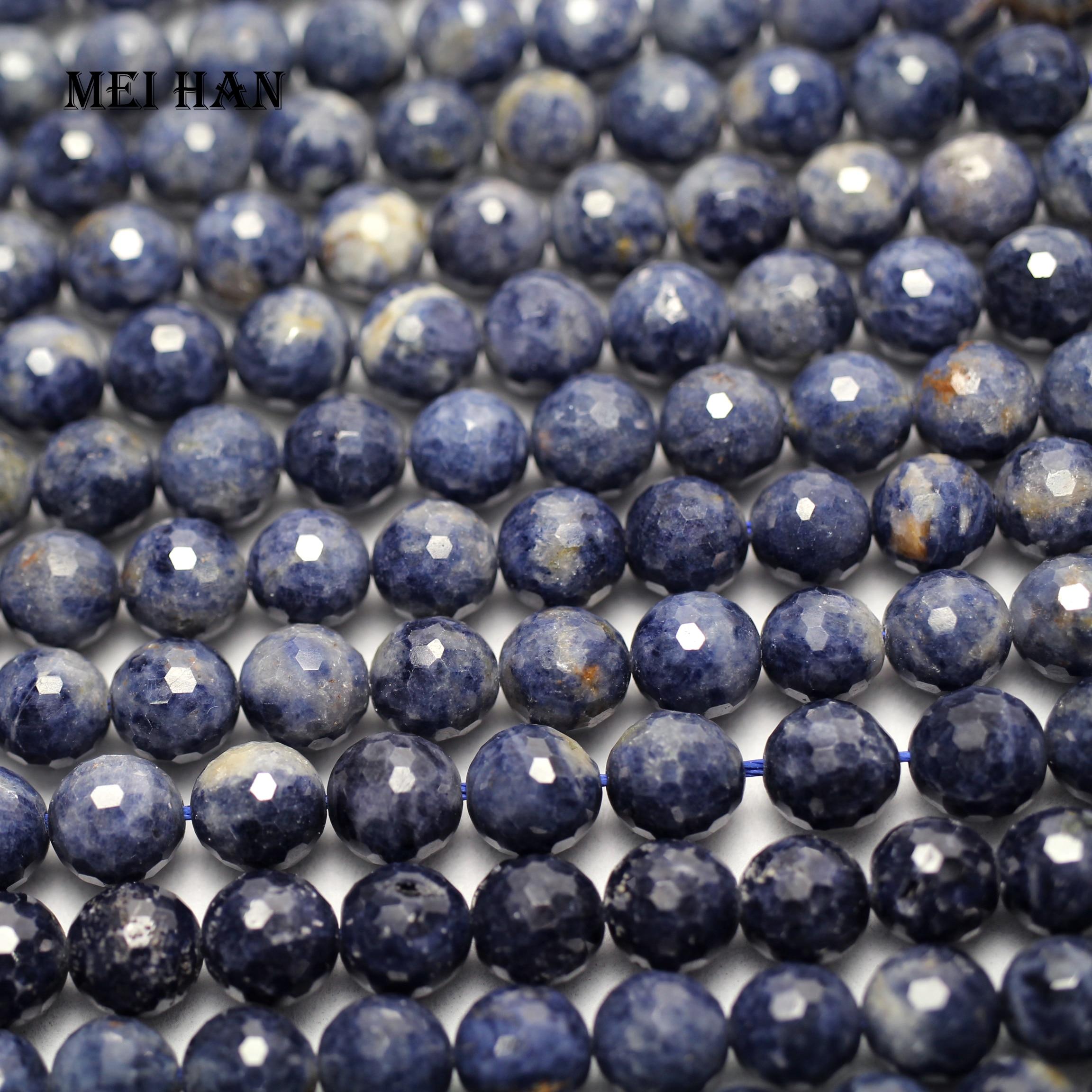 Darmowa wysyłka (45 koraliki/zestaw) naturalny niebieski sapphiree 8 8.5mm fasetowany okrągły luźne koraliki do tworzenia biżuterii projekt w Koraliki od Biżuteria i akcesoria na  Grupa 1