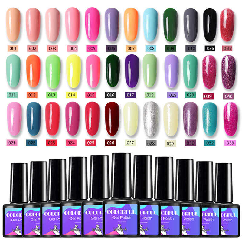 Lghzlink 29 Colorful Gel Nail Polish Semi Permanent Led Gel