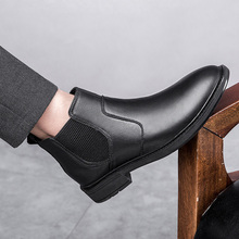 high quality formal slip on Leather shoes *Z08539 High Top Winter Boots black men leather mens pointed toe dress