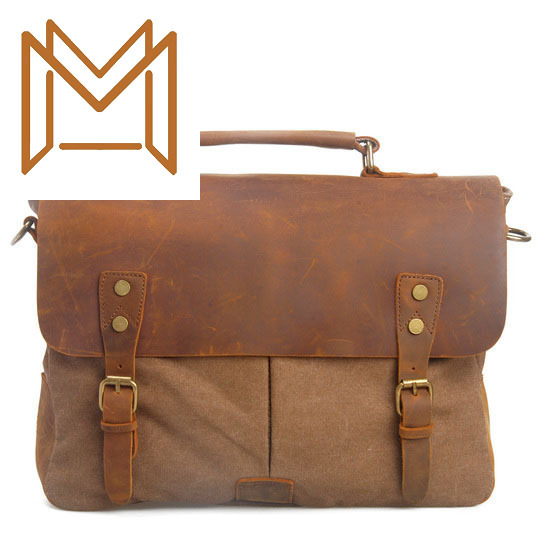 Man Canvas Bag Package Single Shoulder Satchel