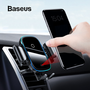 Baseus 15 Вт беспроводное автомобильное зарядное устройство для IPhone 11Pro Samsaung быстрая Беспроводная зарядка интеллектуальный инфракрасный Qi Бес...