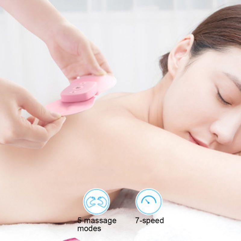 Spor ve Eğlence'ten Dış Mekan Aletleri'de El masaj aleti Mini boyun masajı çok fonksiyonlu akıllı ses elektrikli darbe geri ağrı kesici gevşeme title=