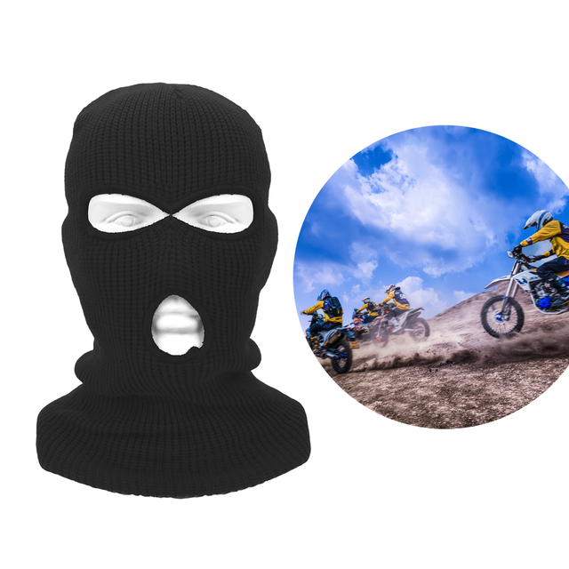 LEEPEE 3 Hole Balaclava Knit Hat Army Tactical Mask Winter Stretch Ski Full FaceMask Full Face Helmet