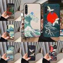 Estilo japonês arte japão caso de telefone capa para xiaomi redmi nota 3 4 4x 5 6 7 8 9 pro t s max escudo preto tpu para carros macio prime