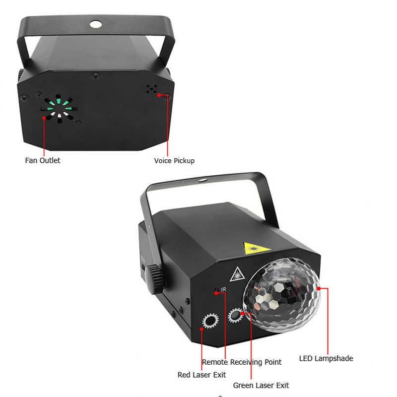 16 Patterns Projektor RGB Bühnenlicht Disco LED Magic Ball Party Lights DJ K8Q0