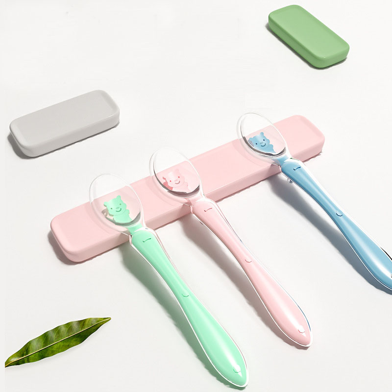 Baby Spoon Set Feeding Dishes Tableware for Children Flatware Cutlery Spoon Silicone Tools for patchwork Lot Soup Ladle in Utensils from Mother Kids