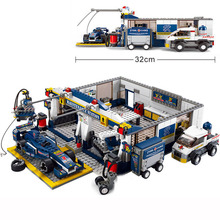 City series Compatible legoingly speed champions Car Racing repair station Truck Building block figure Kid technic children Toy 749pcs super speed 919 racing car sportscar tuning maintenance repair station building block brick toy without color box