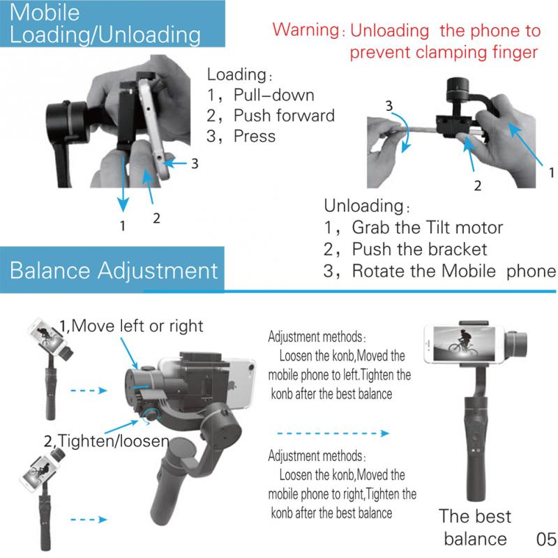 Image 5 - 3 Axis Flexible Handheld Gimbal Stabilizer for iPhone Xs Max Xr X 8 Plus 7 for Huawei for Samsung S9,8 Outdoor phone holder PTZ-in Handheld Gimbal from Consumer Electronics