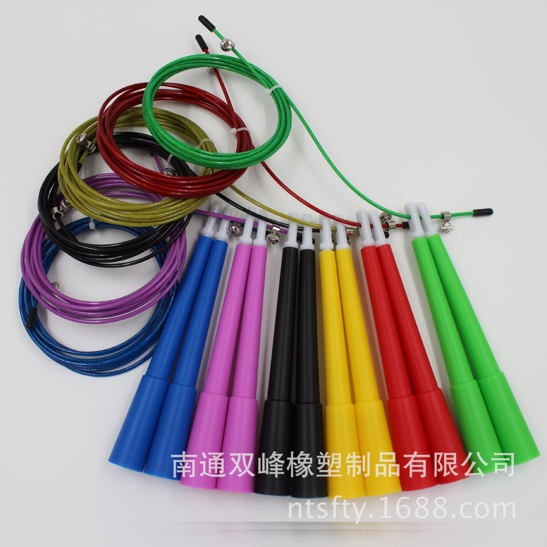 Factory Wholesale Lengthen Handle Steel Wire Jump Rope   National Higher Education Entrance Examination Foreign Trade Rapid Jump