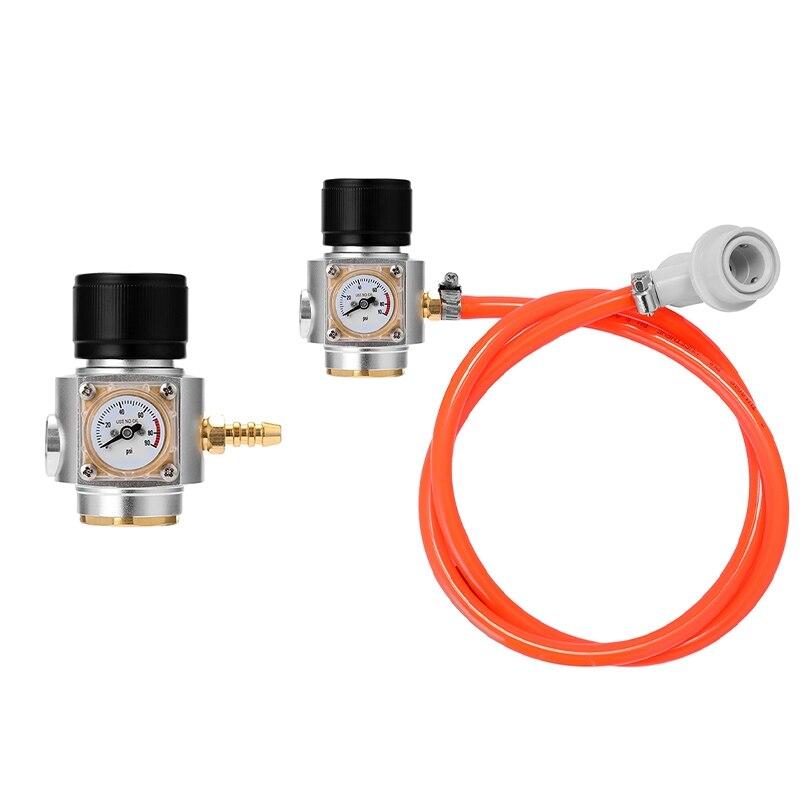 Hot CO2 Mini Gas Charger 0-90 PSI Gauge for Soda Water Beer Kegerator Beer Homebrew Home Brew CO2 Regulator
