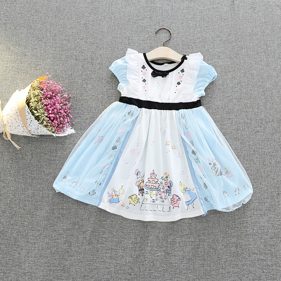 Christmas Costumes for Little Girls Alice Dress Kids Birthday Party Carnival Masquerade Costume 1-6 Years Girl princess Dress