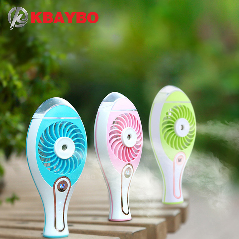 KBAYBO Portable USB Fan Cooler Mini Handy Small USB Cooling Fan Desk Pocket Water Mist Fan Cooling Air Humidifier