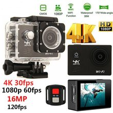 Wifi Action Camera Ultra HD 4K 30fps 16MP 170D 1080P