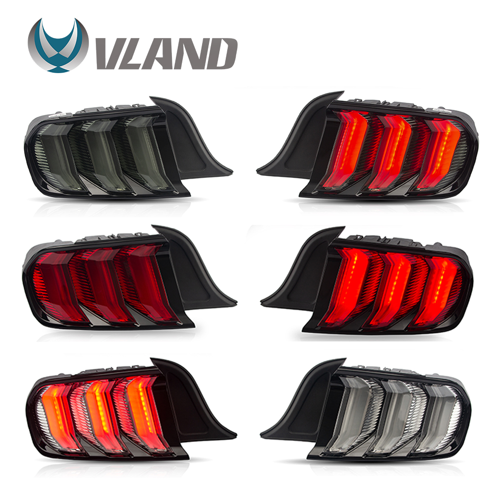 VLAND Tail Lamp Assembly For Ford Mustang 2015-2020 Tail Light With Sequential Turn Signal Reverse Lights Plug And Play