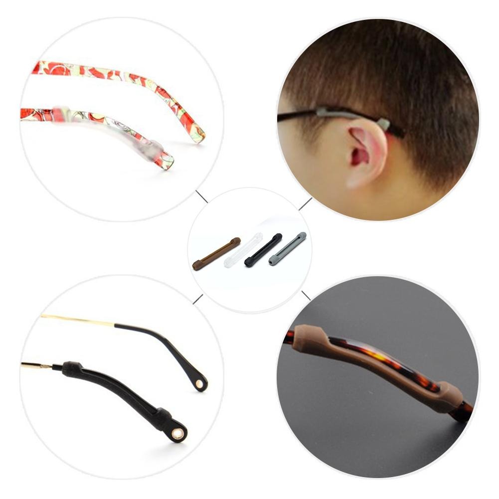 6 Pairs Silicone Eyeglass Strap Holder Eye Hook Sports Glasses With Sunglasses Fixator Antiskid And Elastic Comfort #FOY#