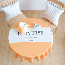 Round tablecloth. Cloth Nordic waterproof table mat, household round tablecloth coffee cloth