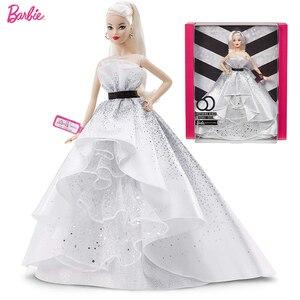 Image 1 - Original Barbie Puppen Begrenzte Look mit Kleidung Frauen Prinzessin Inspirierende Barbie Sammler Spielzeug für Mädchen Geschenke Geburtstag Präsentiert