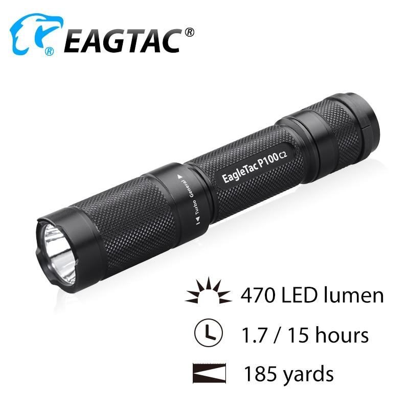EAGTAC Ultra Compact P100C2 LED Flashlight CREE XPG Neutral White 4500K 2*CR123A EDC Torch