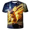2021 Детские футболки с персонажами из аниме «Пикачу», 3D с короткими рукавами костюм с персонажами манга классная забавная Kawaii милые футболки...
