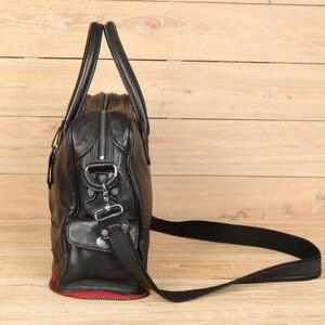 Image 5 - Leather Handbag Shoulder Messenger Bag Laptop Briefcase Leisure Travel Bag Crossbody Men Computer Bags Mens First Layer Cowhide