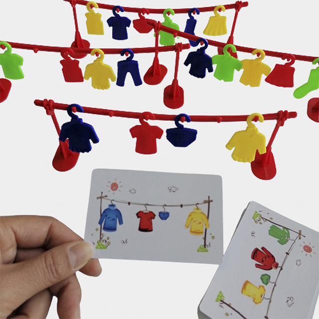 Multiplayer Clothes Contest Play Early Educational Toys Logic Training Montessori Matching Teaching Interactive Party Board Game 1