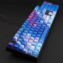 Starry Sky ABS Persönlichkeit Mechanische Tastatur Tastenkappen Wasser Transfer Druck 104 tasten Kappen für FILCO