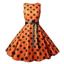 Halloween Vintage Dress A Line Polka Dot Women Summer Dresses 2019 1950s 60s Pin Up Big Swing Party Black Vestidos