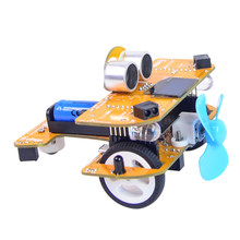 Programmable Intelligent Car Kids Toy Steam Educational DIY Plane With Graphical Processing Scratch Mixly For Arduino UNO R3(China)