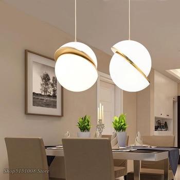 Modern Simple Pendant Light Acrylic Ball Hanglamp Planet Pendant Lamp Art Design Lamp Home Suspension Kitchen Living Room Lights