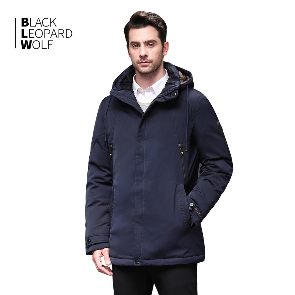 Blackleopardwolf 2019 New Arrival Winter Jacket  Men Fasion Coat Thik Parka Windproof Detachable Outwear Luxury With Fur BL-1001