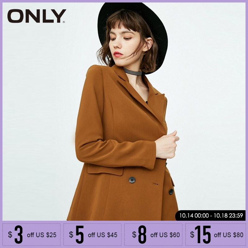 ONLY Women Double-breasted  Suit Blazer Jacket Coat| 118308506