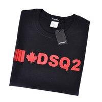Dsqicond2 T-shirt da uomo stile estivo di marca T-shirt o-collo T-shirt manica corta gotica dsq2 T-shirt bianca nera lettera per uomo