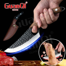 Stainless Steel Boning Knife Cleaver Knifes Handmade Butcher Knife Forged steel Serbian Chef Knife Outdoor Camping Cooking Tools