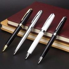 1 pcs venda quente papelaria pçs/lote rotativa caneta esferográfica de metal aço inoxidável barra de bola óleo papelaria comercial