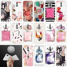 soft silicone Phone case Makeup rouge Perfume For Huawei Mat