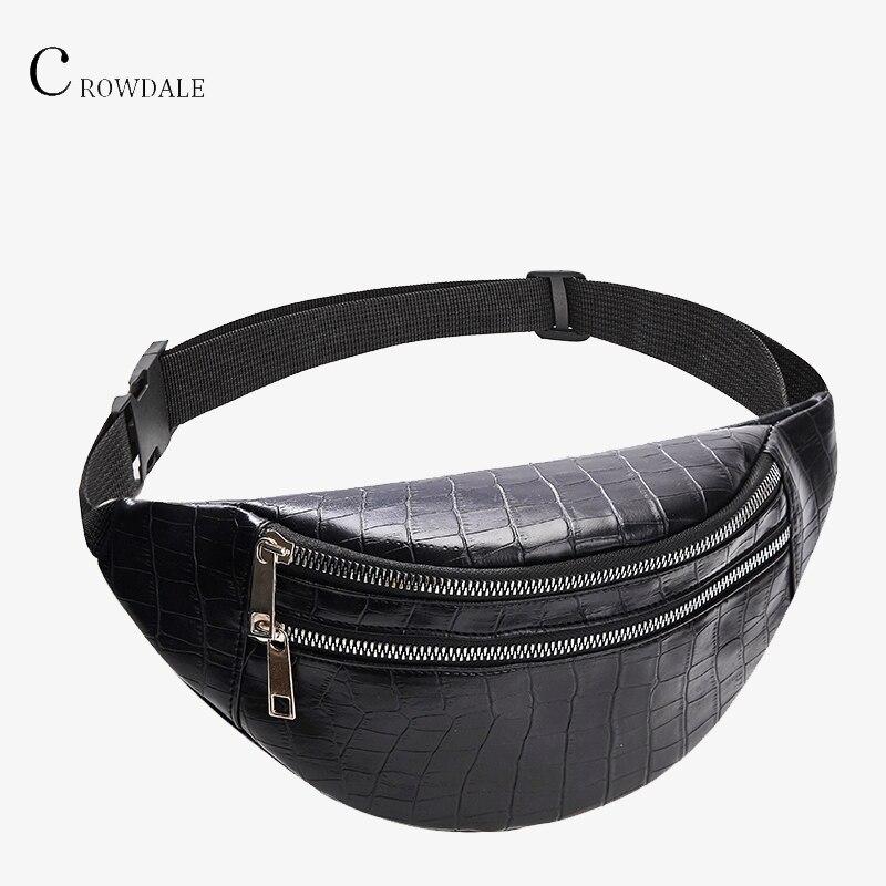 Крокодиловая талия сумка женская искусственная кожа нагрудные новый дизайнер женский Мода высокого качества поясные Fanny Packs