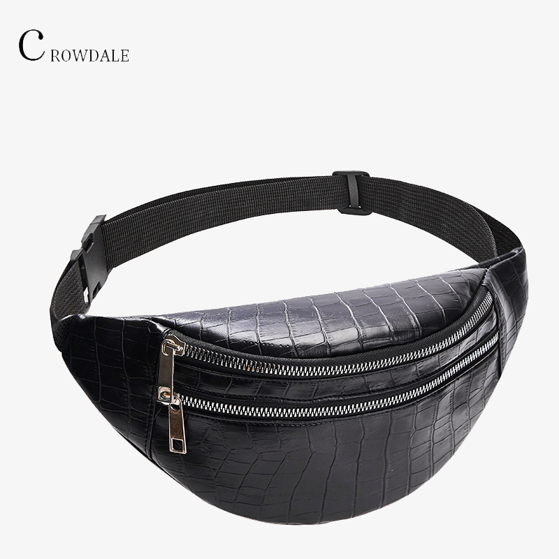 Crocodile Waist Bag Women PU Leather Lapel New Designer Women Fashion High Quality Waist Fanny Packs