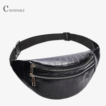 Crocodile waist bag women PU leather lapel new designer Fashion high quality Fanny Packs