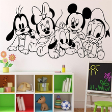Disney Baby Mickey Mouse Vinyl Sticker Wall Art Decor Child Kids Room bedroom accessories Ideas S