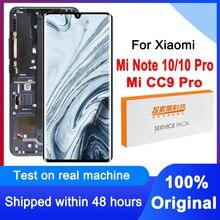 """100% oryginalny 6.47 """"wyświetlacz dla Xiaomi Mi CC9 Pro LCD dla Mi uwaga 10 wyświetlacz ekran dotykowy Digitizer dla Mi uwaga 10 Pro M1910F4G"""