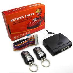 Akcesoria samochodowe 1-Way drzwi wewnętrzne blokady alarm antywłamaniowy zestaw 608-8184 samochodów system dostępu bezkluczykowy zdalne sterowanie do 12V DC pojazdu