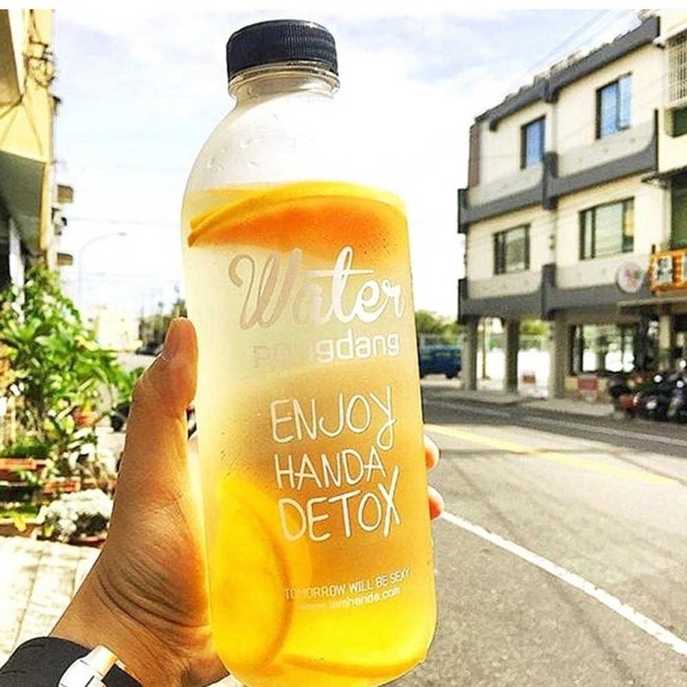 600/1000ML נייד ספורט קמפינג רכיבה על אופניים נסיעות פלסטיק מיץ מים בקבוק אופנה גדול קיבולת בקבוקי חום עמיד בקבוק