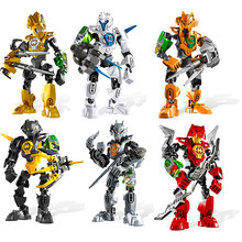Decool herói fábrica 3.0 robôs bionicle figuras de ação modelo blocos de construção tijolos brinquedos para crianças presentes do menino dropshipping