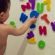 Baby Foam Stickers 26 Letters + 10 Nummers Baby Bad Water Stickers Kids Kinderen Drijvende Bad Douche Speelgoed(China)