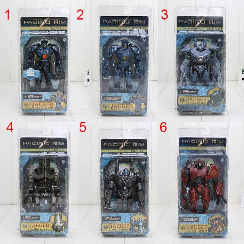 Film Model Gipsy Danger Coyote Tango Cherno Typhoon Alpha Striker Eureka Jaeger Action Figure Boneka