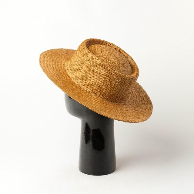 01912-HH7362A new summer handmade paper grass   fedoras cap men women leisure panama jazz hat