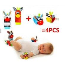 Crianças meias chocalhos do bebê-brinquedos Wrist chocalhos e pé meias 0 ~ 24 meses