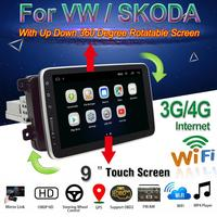 9 Android 8.1 Car Radio for VW Volkswagen Skoda POLO with Up Down 360 Degree Rotatable Screen BT DAB+ OBD2 GPS WiFi 3G/4G
