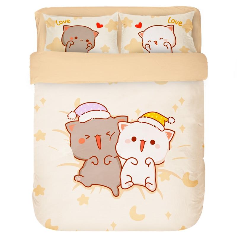 Kawaii Japanese Cat Bedding Set 2