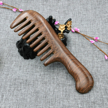 Wooden Salon Waist Fragrance Anti Static Long Wide Tooth Detangle Home Natural Sandalwood Comb Massage Hair Tools Women